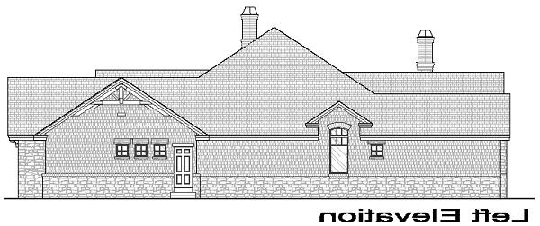 Left Elevation image of La Casa Bella House Plan
