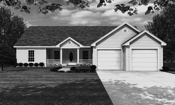 Front Elevation - B/W image of The Coconut Grove House Plan