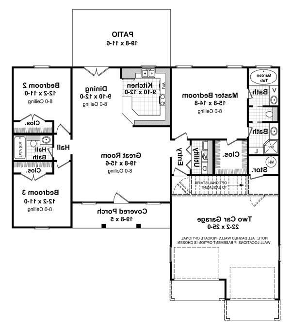 Floorplan image of The Coconut Grove House Plan