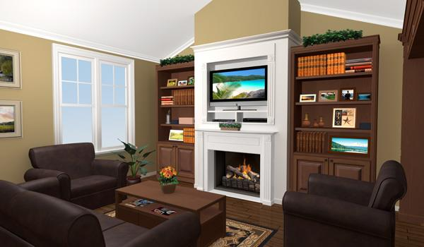 Interior View - Great Room image of The Wilson Creek House Plan