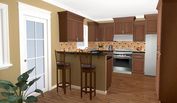 Interior View - Kitchen image of The Wilson Creek House Plan