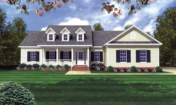 Front Elevation image of The Seneca Hills House Plan
