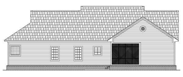 Rear Elevation image of The Seneca Hills House Plan