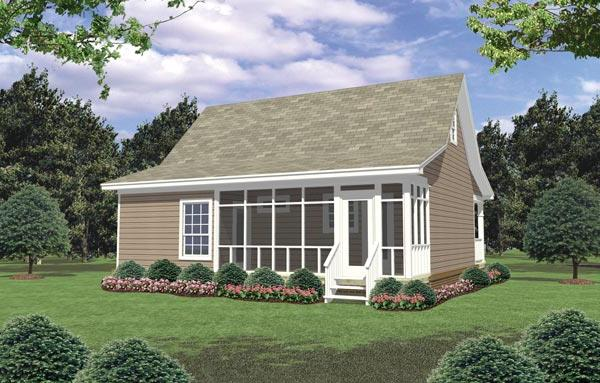 Rear Elevation image of The Pine Ridge House Plan