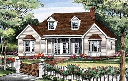Front Rendering image of LEWISBURG RANCH House Plan