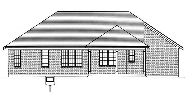 Rear Elevation image of The Portland House Plan