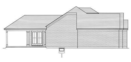Right Elevation image of The Portland House Plan