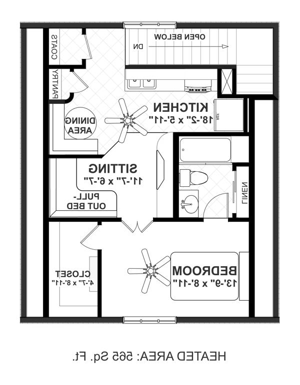 Upper Level Floorplan image of The Sovereign Cottage House Plan