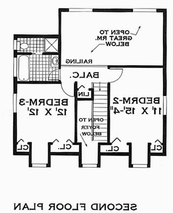second floor image of Great Home House Plan