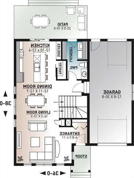 1st floor plan image of Augusta 2 House Plan