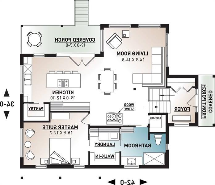 Main level image of Billy House Plan