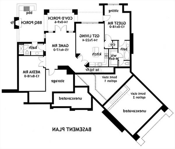 2091bsmt L Attesa Di Vita House Plan D on