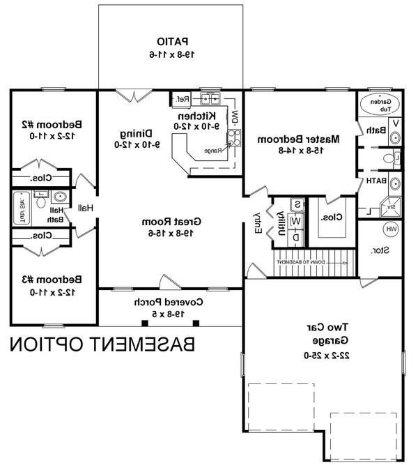 Basement Floorplan image of The Coconut Grove House Plan