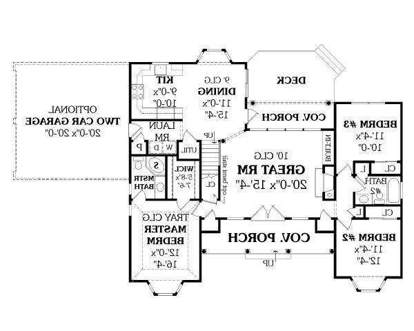 First Floor Plan image of LEWISBURG RANCH House Plan